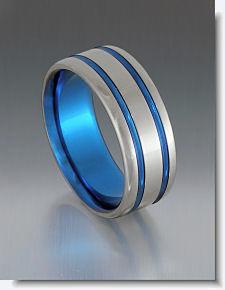 blue titanium ring